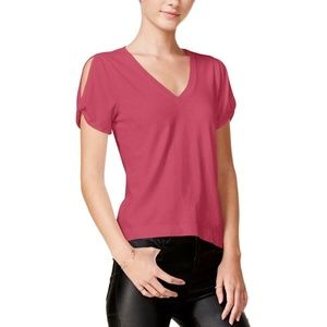 🎁Chelsea Sky Pink Hi-Low Short Sleeve Tee Top XS